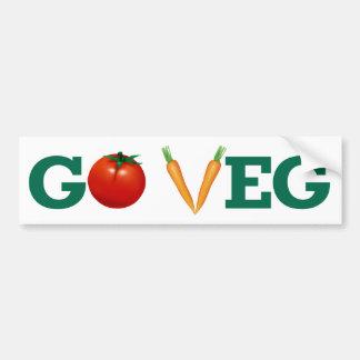 Go Veg Bumper Sticker