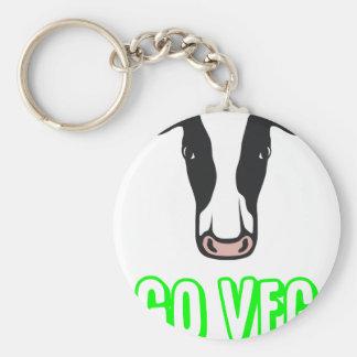Go Veg ©  Logo Keychain