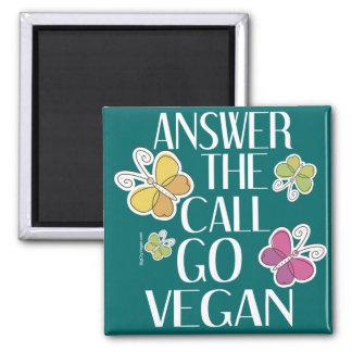 Go Vegan 2 Inch Square Magnet