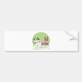 Go Vegan Car Bumper Sticker