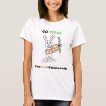 Go vegan  bunny T-Shirt