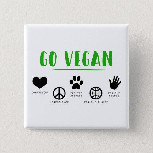 Go Vegan Button