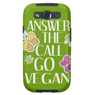 Go Vegan Samsung Galaxy S3 Cover