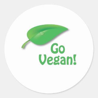 Go Vegan! Classic Round Sticker