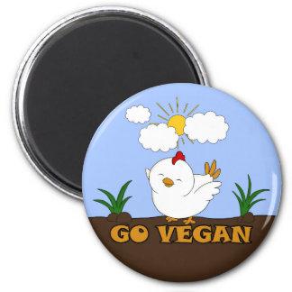 Go Vegan - Cute Chick Magnet