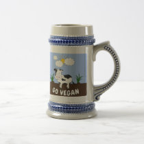 Go Vegan - Cute Cow Beer Stein