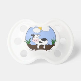 Go Vegan - Cute Cow Pacifier