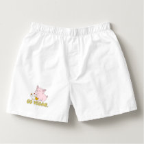 Go Vegan - Cute Pig and Chicken Boxers