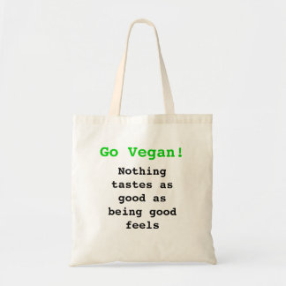 Go vegan emergency-hung tastes as good being being tote bag