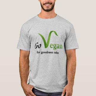 Go Vegan (for goodness sake) T-shirt