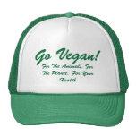 go Vegan for the animals vegan hat
