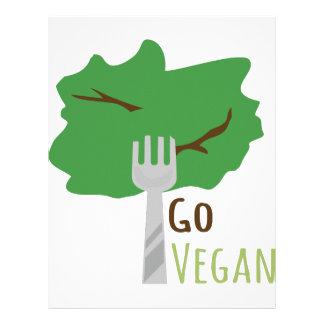 Go Vegan Personalized Letterhead