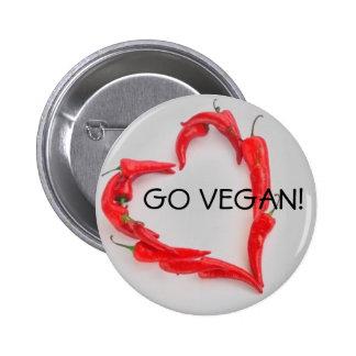 Go Vegan! Pinback Button