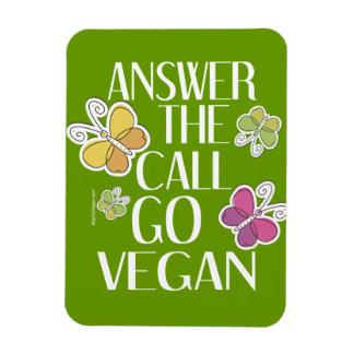 Go Vegan Rectangular Photo Magnet