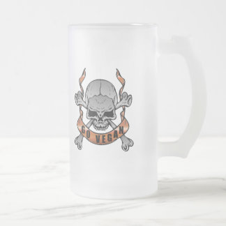 Go Vegan Skull Frosted Mug