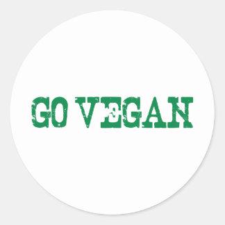 Go Vegan Classic Round Sticker