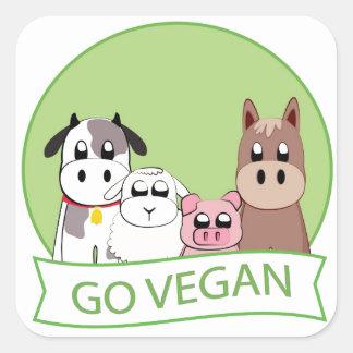 Go Vegan Square Sticker