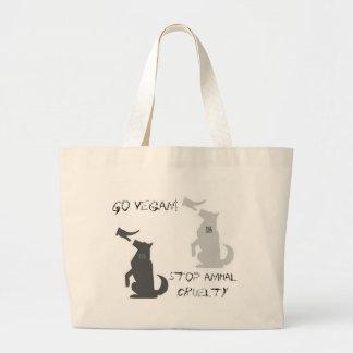 Go Vegan...Stop Animal Cruelty! Tote Bags