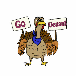Go Vegan - Talking Turkey Cutout
