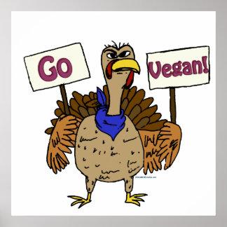 Go Vegan - Talking Turkey Poster