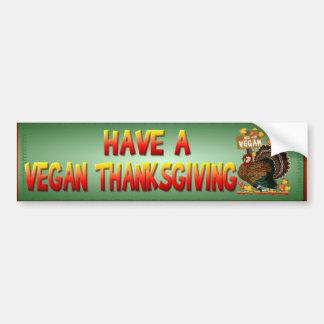 Go Vegan! Thanksgiving Bumper Sticker
