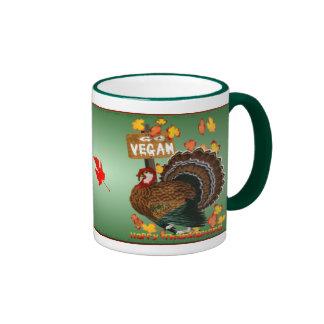 Go Vegan! Thanksgiving_Mugs Ringer Mug