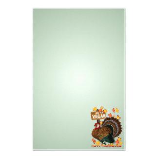 Go Vegan! Thanksgiving stationery_vertical Stationery Paper