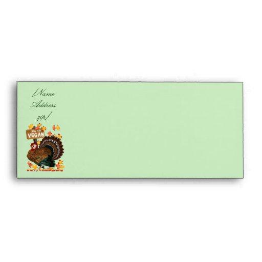 Go Vegan-Thanksgiving Trans, [NameAddresszip] Envelope