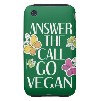 Go Vegan Tough iPhone 3 Case