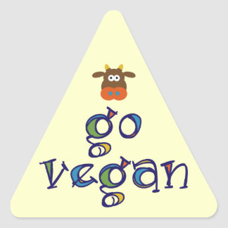 Go Vegan Triangle Sticker