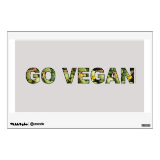 Go Vegan Wall Sticker