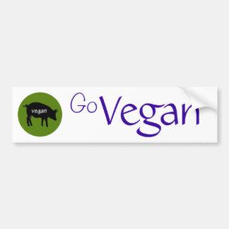 Go Vegan (with a pig design) Car Bumper Sticker