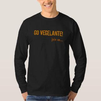 GO VEGELANTE!, join us... Mens long sleeve shirt