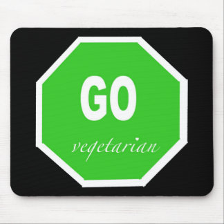 GO vegetarian animal rights Mouse Pad