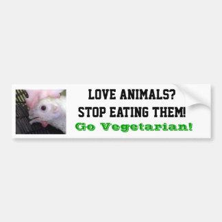 Go Vegetarian Hen Bumper Sticker Car Bumper Sticker