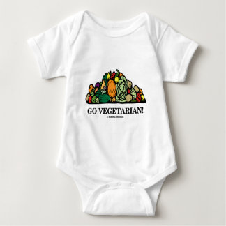 Go Vegetarian! (Vegetarian Humor) Baby Bodysuit