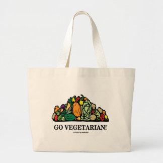 Go Vegetarian! (Vegetarian Humor) Bags