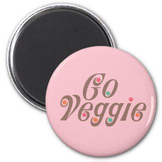 Go Veggie 2 Inch Round Magnet