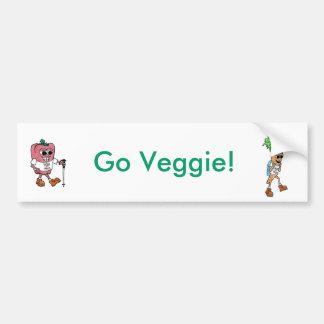 Go Veggie Bumper Sticker