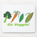 Go Veggie Mouse Pads
