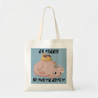 Go veggie or the pig gets it budget tote bag