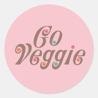 Go Veggie Round Sticker