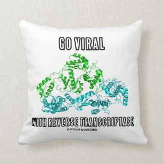 Go Viral With Reverse Transcriptase Throw Pillows