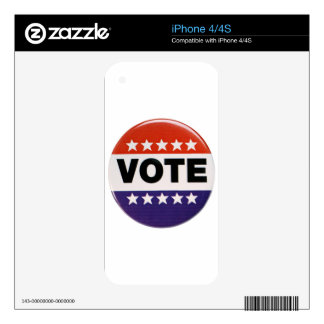 Go Vote ! Decals For The iPhone 4