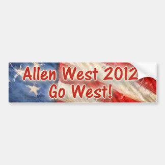 Go West Car Bumper Sticker