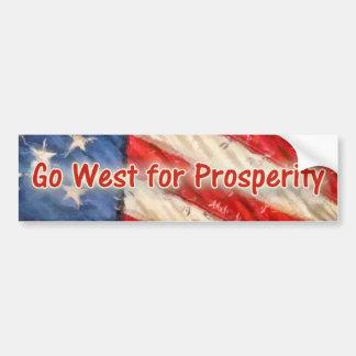Go West for Prosperity Car Bumper Sticker