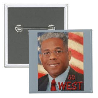 Go West Pinback Button