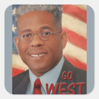 Go West Square Sticker
