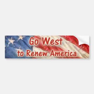 Go West to Renew America Car Bumper Sticker