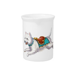 Go Westie !!! Beverage Pitcher